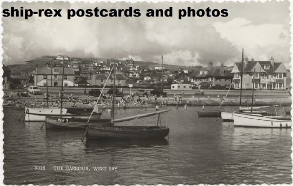 West Bay (Dorset) harbour, postcard (a)